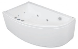 Wanna narożna POOL-SPA LAURA 150x90 z hydromasażem SAMRT 2, lewa, white PHANW10ST2C0000