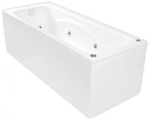 Wanna prostokątna POOL-SPA KLIO 160x70 z hydromasażem SD3, white PHP6610SD3C0000